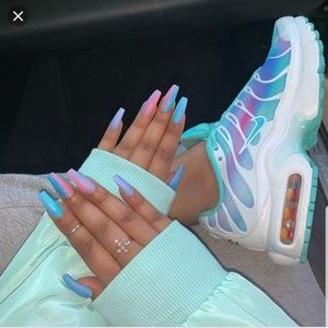 nike air max plus white light aqua